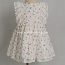 Wholesale cotton fabric floral girls princess dress